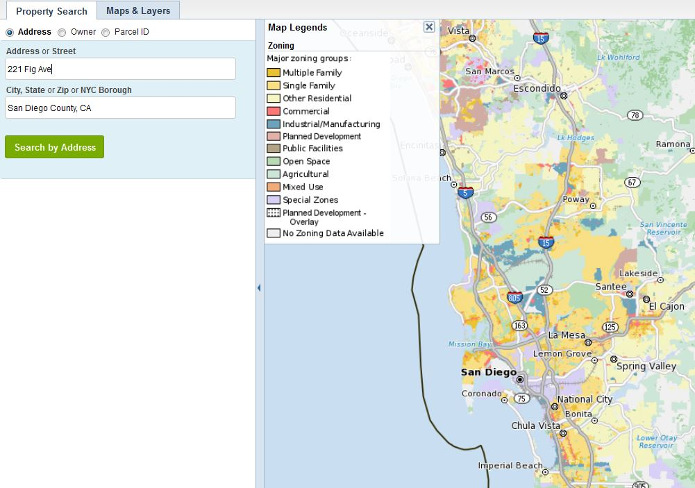 San Diego County Zoning Map